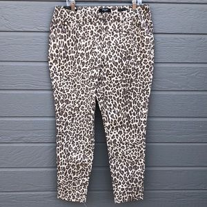 NWT Nine West  14 animal print skinny ankl…